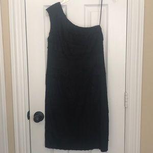 JESSICA SIMPSON Size 8 black lace one strap dress